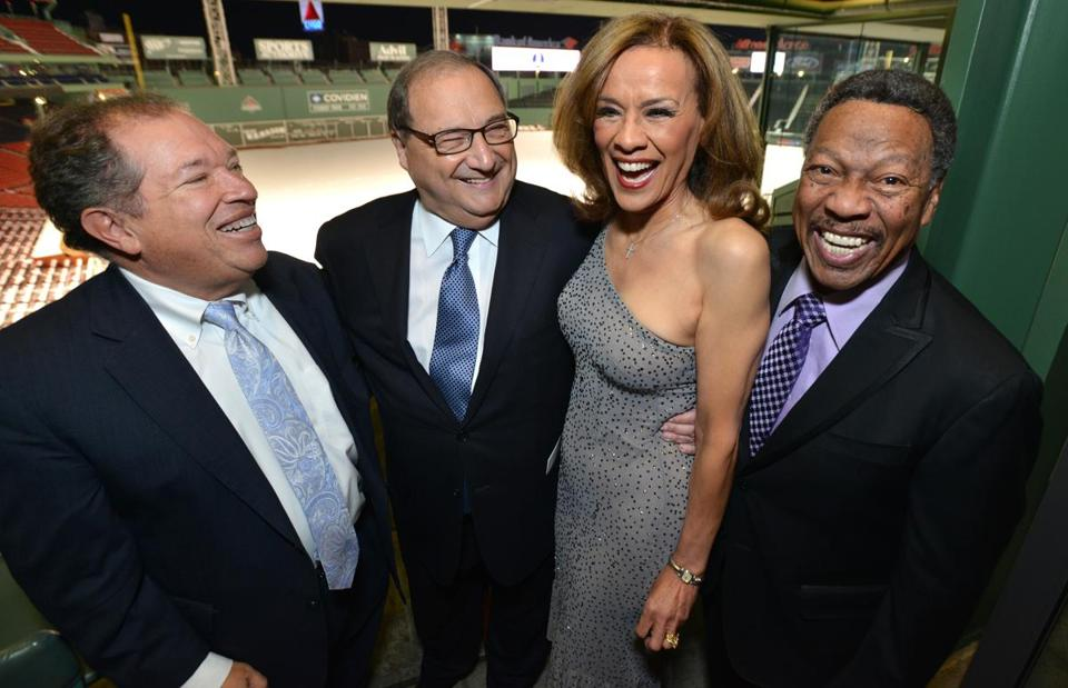From left: Charles Steinberg, ADL national director Abraham Foxman, Marilyn McCoo, and Billy Davis Jr.