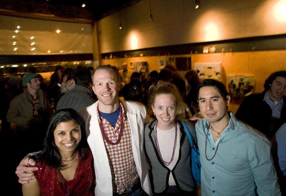 From left: Lipi Roy, Russ Bradchulis, Kate Kennedy, Guillermo Carreon at Middlesex Lounge.