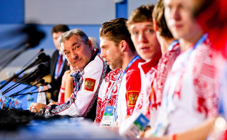 Vladislav Tretiak was the goalie of the 1980 Soviet team, and now heads the Russian Ice Hockey federation.