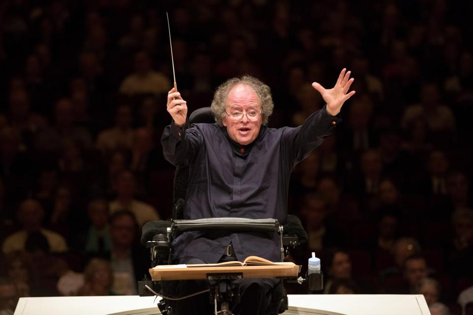 James Levine last May at Carnegie Hall in his return to conducting the Met Opera Orchestra.