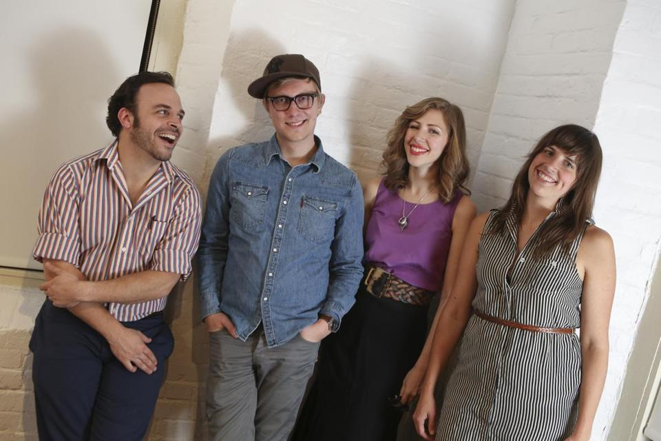 Having met as New England Conservatory undergrads, (from left) Mike Calabrese, Mike Olson, Rachael Price, and Bridget Kearney formed Lake Street Dive.