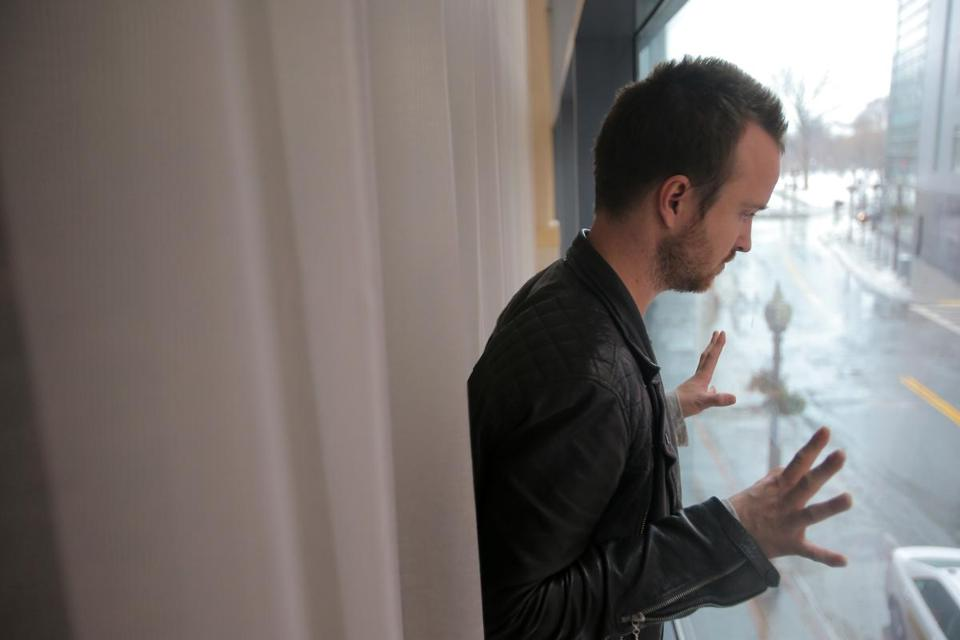 Actor Aaron Paul, at the Ritz-Carlton, is in town to screen his new film.