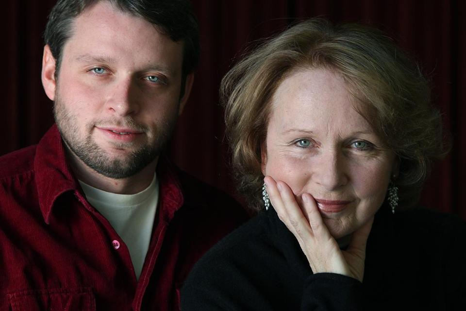 "Kate Burton (Vice President Sally Langston on TV's ""Scandal"") and her son, Morgan Ritchie."