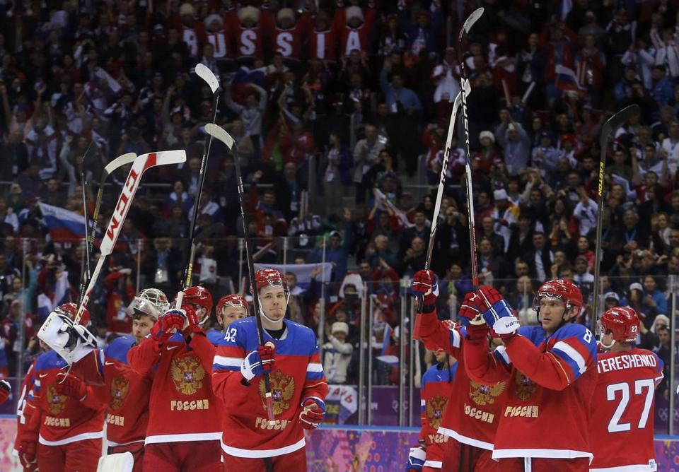 There is enormous pressure on the Russian men's hockey team to win gold on home ice in Sochi, but they weren't impressive in an opening win over Slovenia. REUTERS/Mark Blinch