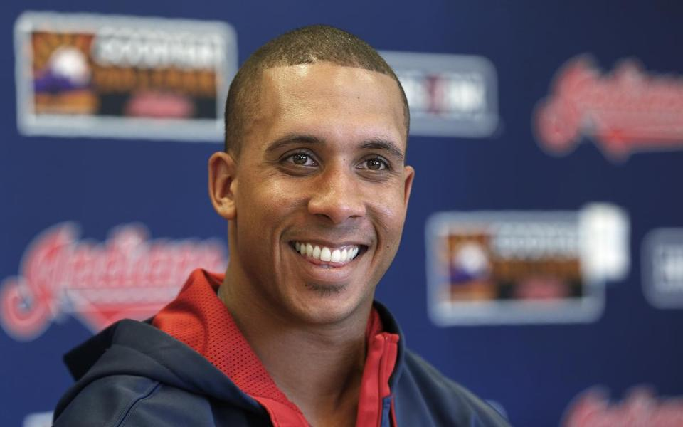 Outfielder Michael Brantley was all smiles after signing a four-year deal to remain with the Indians.
