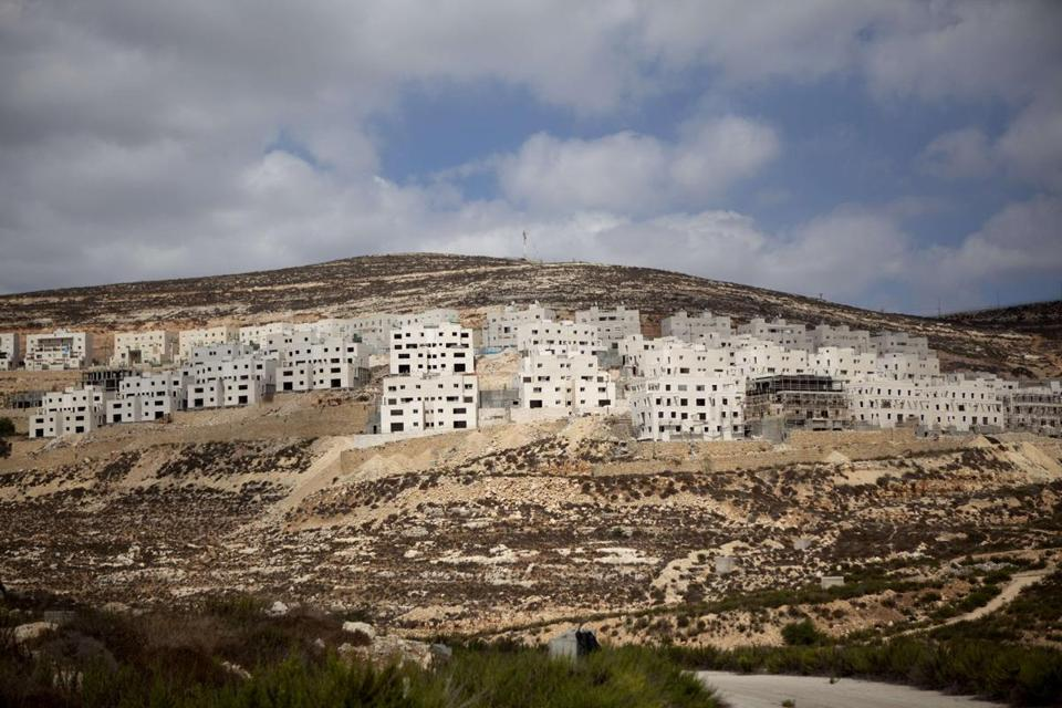 The Jewish settlement of Givat Zeev in the West Bank.