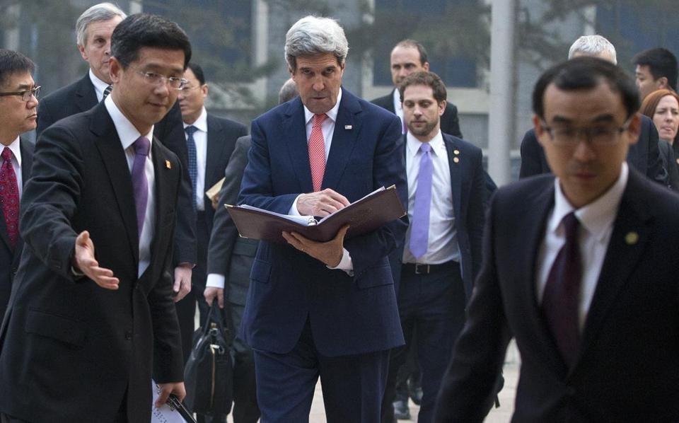 Secretary of State John Kerry was in Beijing, where he met China's president to discuss key issues in the region.