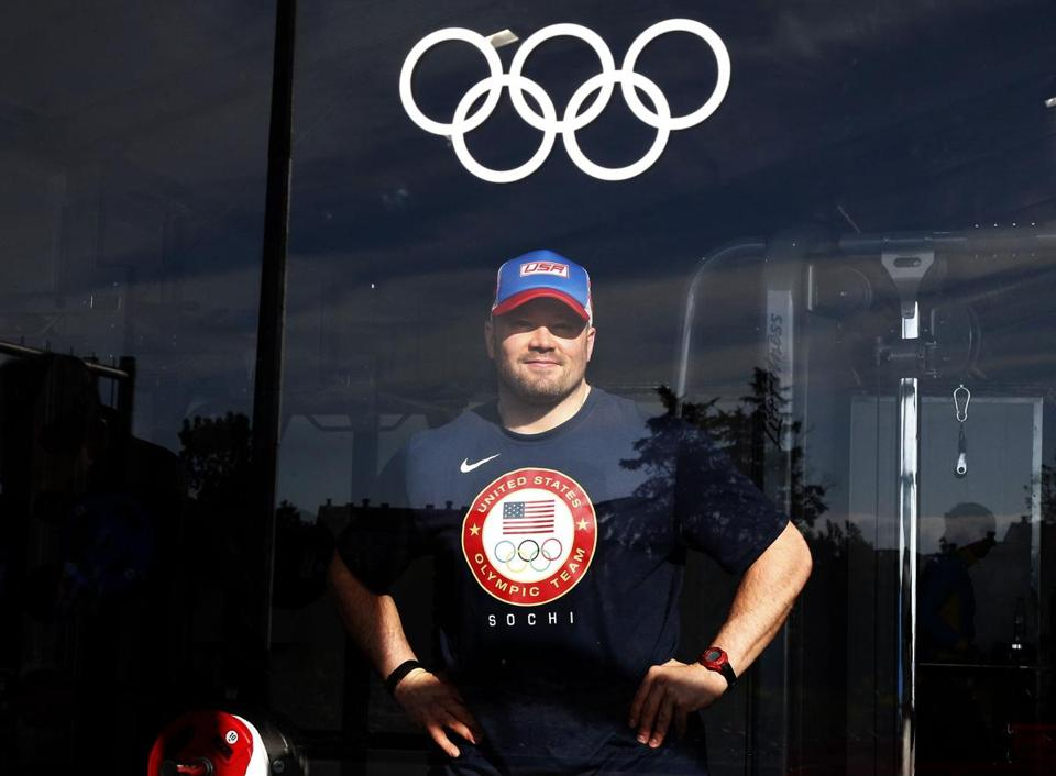 US bobsled pilot Steve Holcomb is vying for a second gold medal.