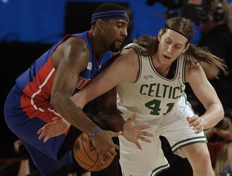Celtics rookie Kelly Olynyk (right) credits his All-Star Weekend gig to his relationship with Jared Sullinger.