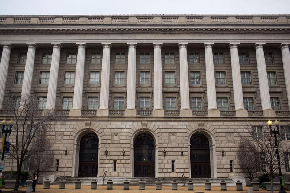 The Washington headquarters of the IRS, where officials say they have improved their ability to detect identify theft.