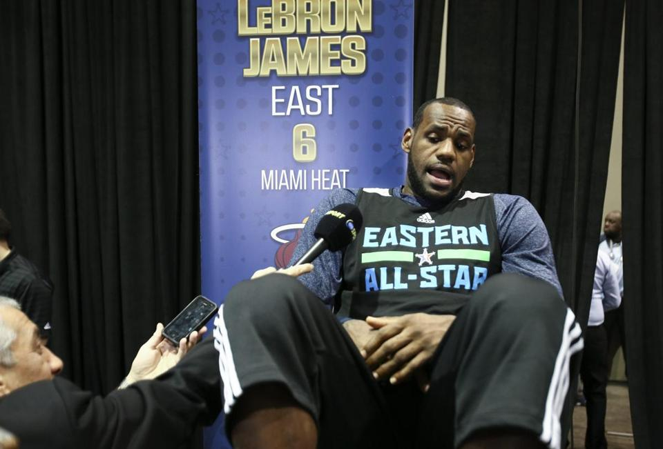 James's statements sparked a debate at All-Star Weekend about the game's greatest players.