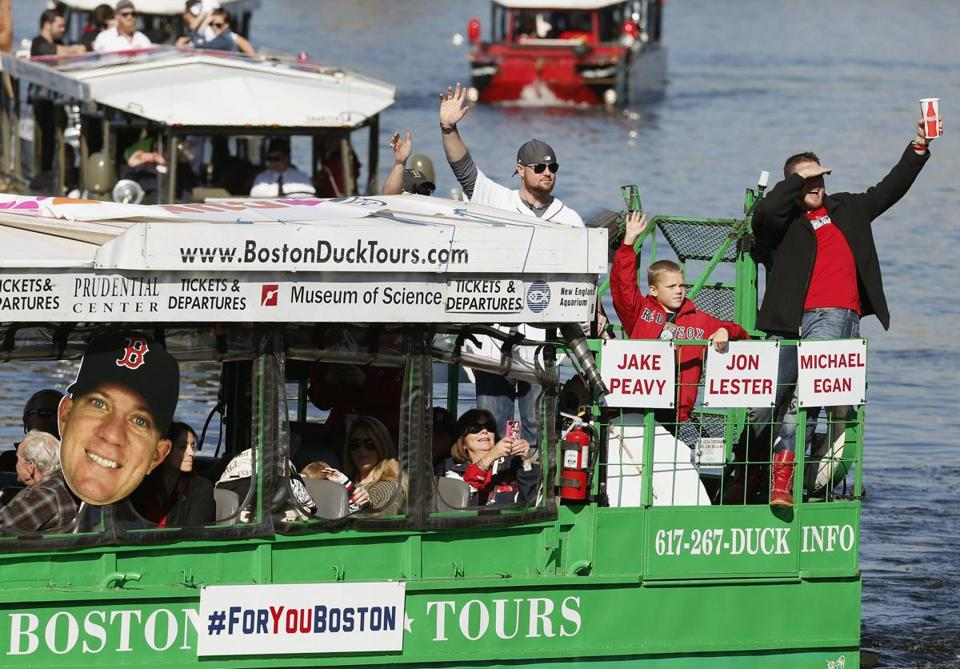 Jake Peavy purchased the boat he rode in during the World Series parade.