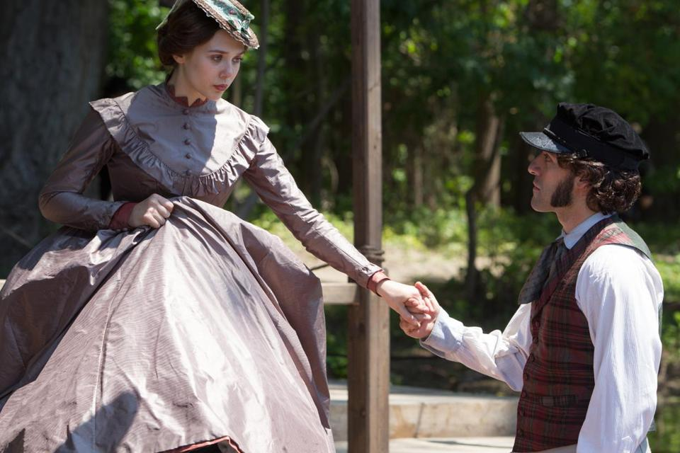 "Elizabeth Olsen and Oscar Isaac in director Charlie Stratton's ""In Secret,"" an adaptation of Émile Zola's ""Thérèse Raquin."""