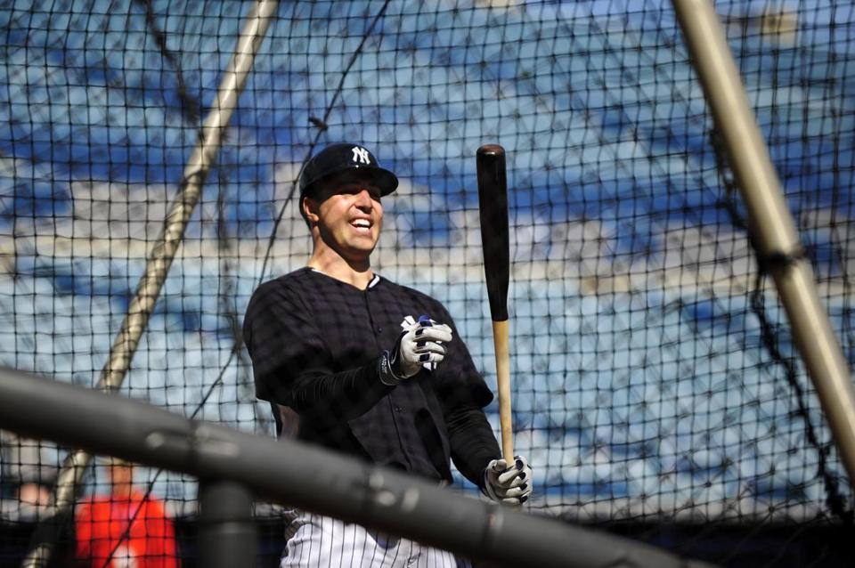 Mark Teixeira took swings from the right side of the plate and then the left in Tampa on Sunday.