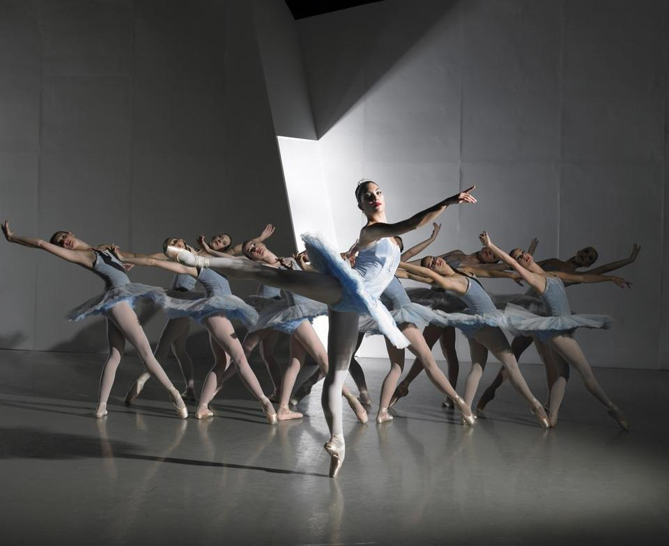 "Elisabeth Scherer leads  Jose Mateo Ballet Theatre's performance of ""Mozart Concerto"" at Sanctuary Theatre."