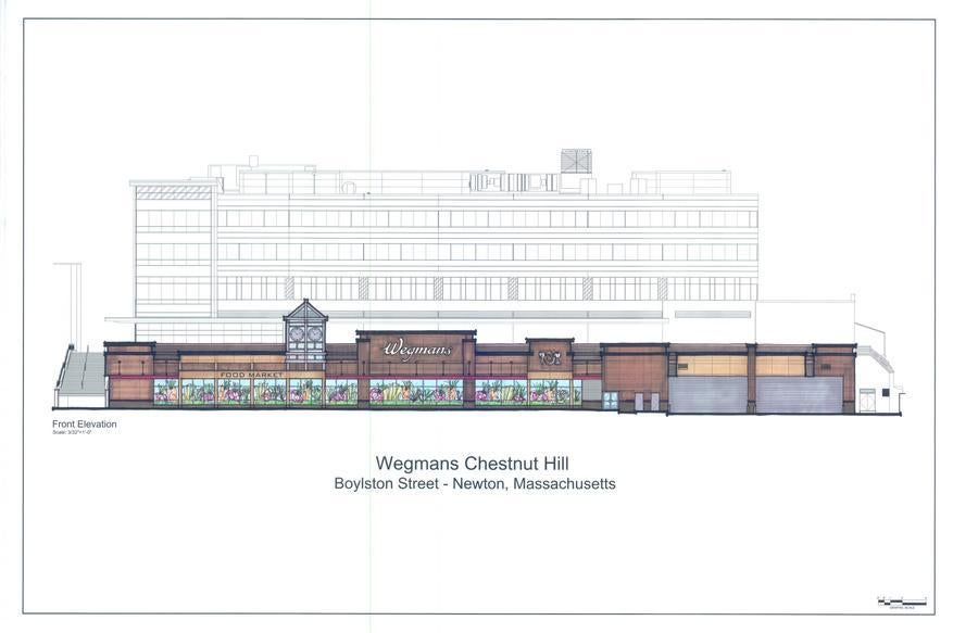 A rendering of the Wegmans store slated to open in Chestnut Hill on April  27.  Wegmans fielded more than 3,000 applications for jobs there, or about six for every opening.
