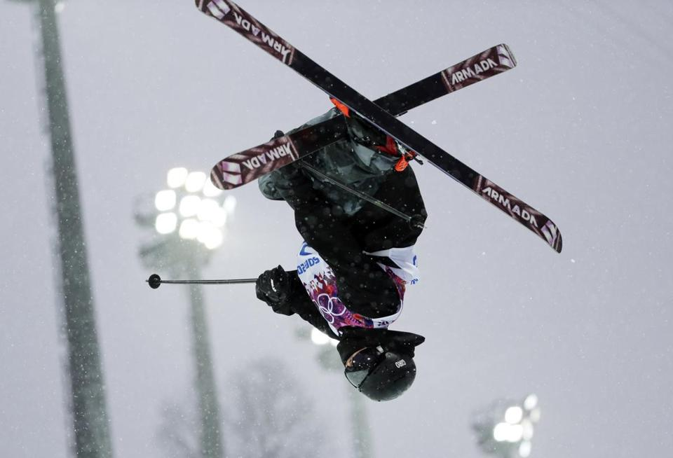 Freestyle skier Adam Crook was the first winter athlete to compete for the British Virgin Islands in 30 years. (AP Photo/Andy Wong)