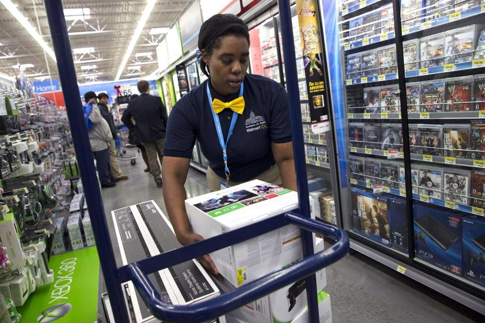 Walmart announced Thursday that profit in the fourth quarter, which included the pivotal holiday shopping season, were down 21 percent from the same period a year ago.