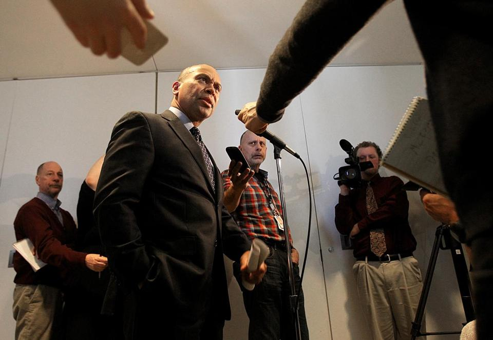 Governor Deval Patrick discussed the Massachusetts criminal justice system at a forum.