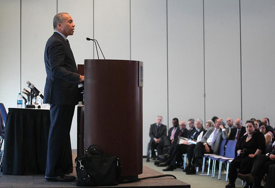 Massachusetts Governor Deval Patrick made his remarks during a speech outlining proposed changes to the criminal justice system.