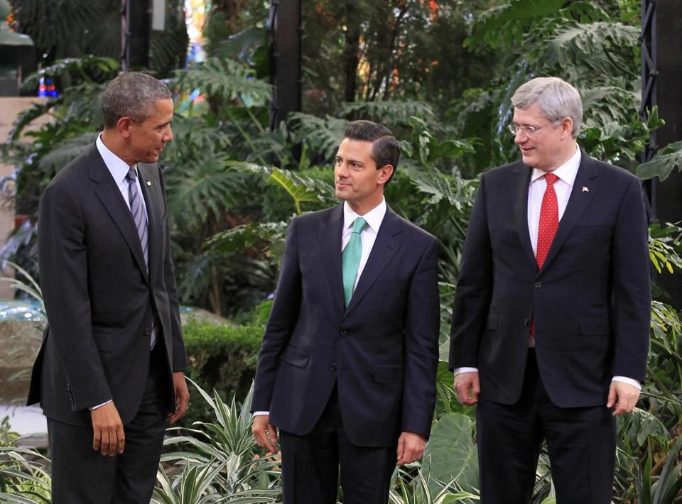 President Obama met with Enrique Peña Nieto of Mexico and Stephen Harper of Canada.