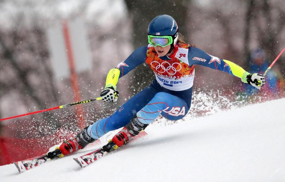 Mikaela Shiffrin (above) is especially sharp on her turns, a fact not lost on 1972 slalom gold medalist Barbara Cochran.. EPA/MICHAEL KAPPELER