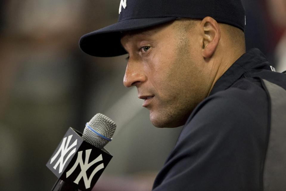 Yankees shortstop Derek Jeter spoke Wednesday during a news conference at the Yankees' spring training facility in Tampa.