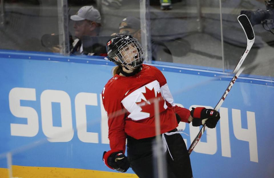 Meghan Agosta scored for Canada in the first meeting.