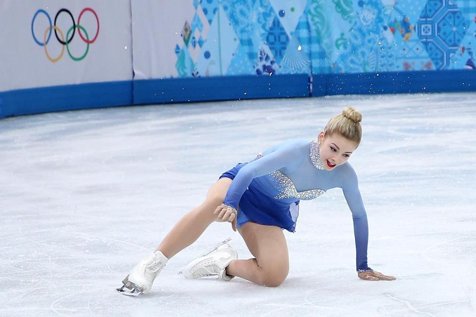 Unlike US figure skater Gracie Gold, NBC's TV ratings did not fall despite not having an American medalist in figure skating.(Photo by Matthew Stockman/Getty Images)