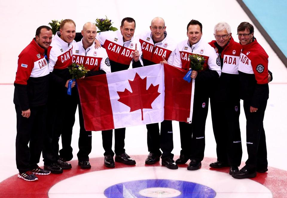 The Canadian team celebrated its victory on Friday.