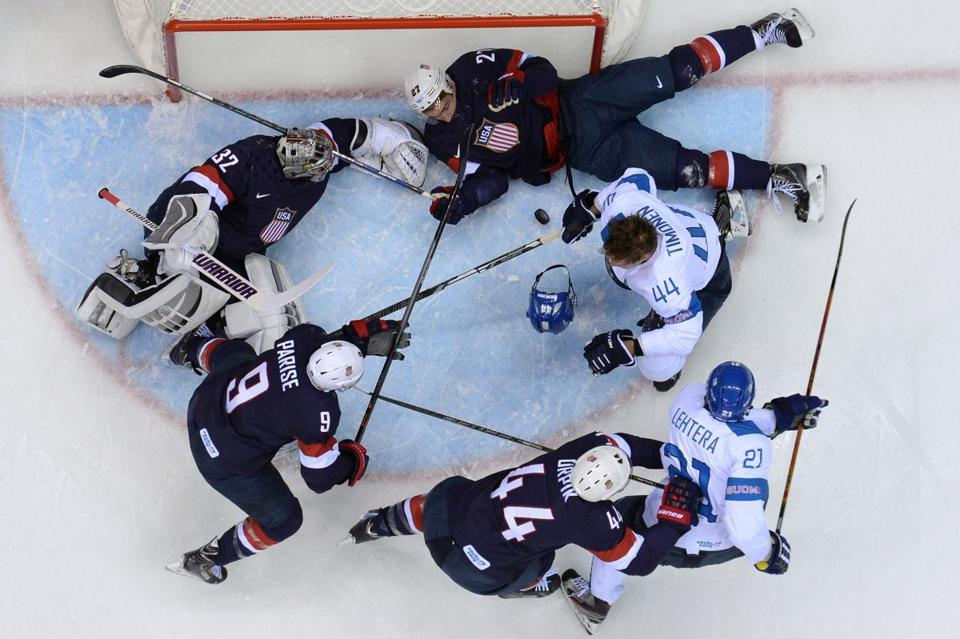 Although they didn't score here, the Finns were all over the Americans in the bronze-medal game.