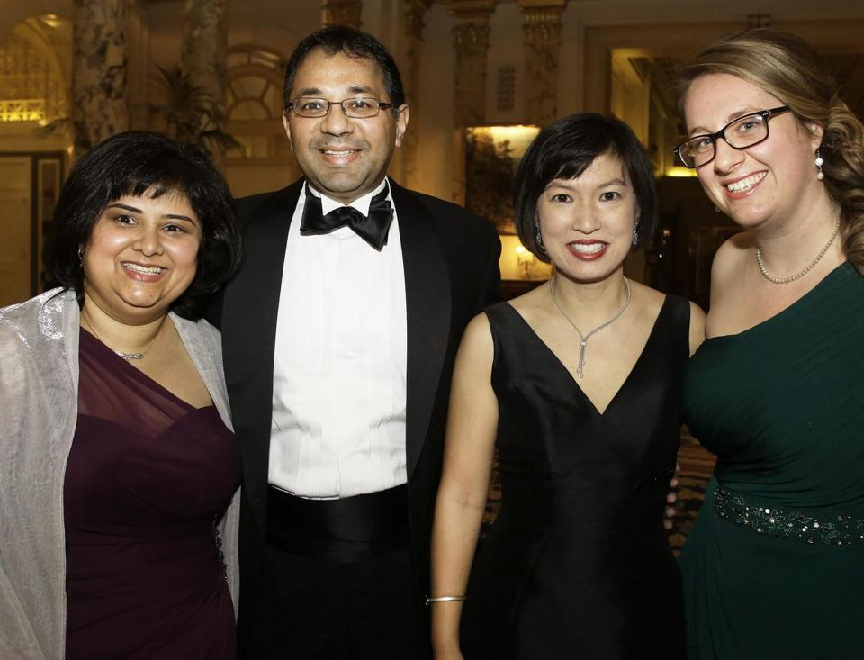 From left: Vani and Shankar Jagannathan of Southborough, Eumene Ching of Weston, and Rebecca Bogers of Newton.