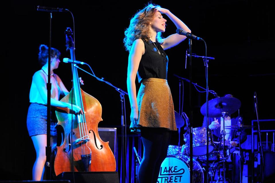 "Rachael Price leads Lake Street Dive during a sold-out homecoming show at The Sinclair. ""We never stay away too long,"" she told the crowd."