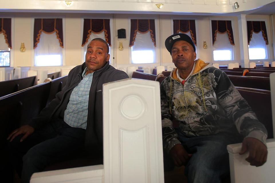Former bitter foes Vito Gray (left) and Victor Woods have found peace.