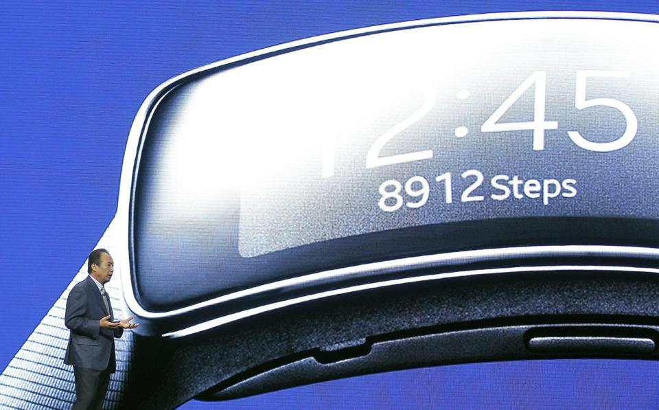 Samsung president J.K. Shin also unveiled the Samsumg Gear computerized wristwatch.