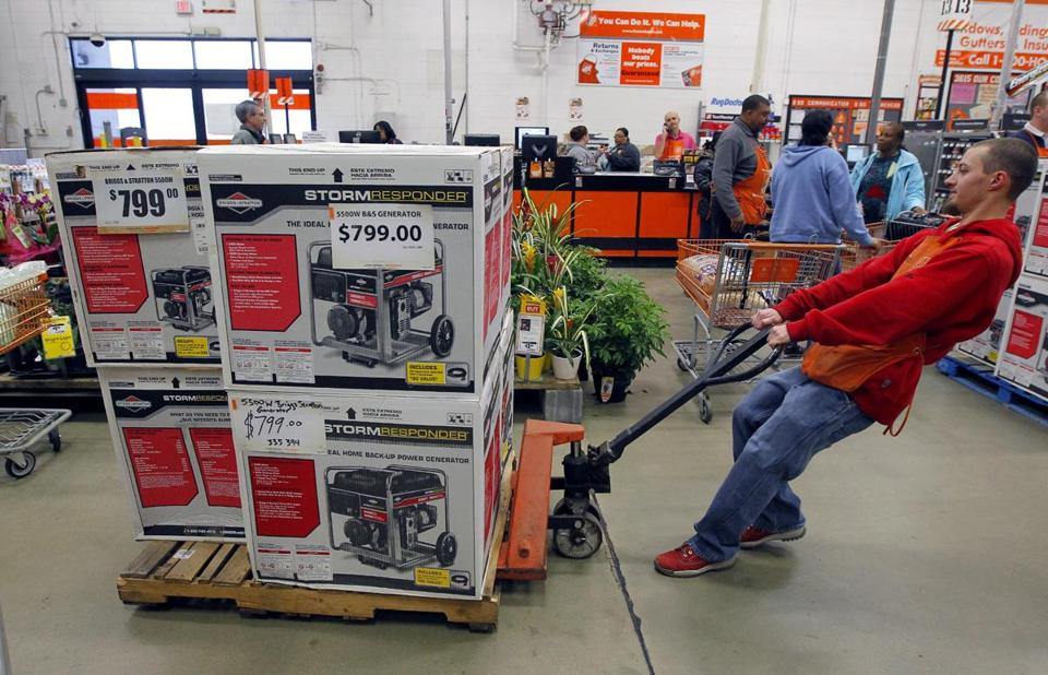 Generators were popular at this Home Depot in Cary, N.C., during a recent winter storm.
