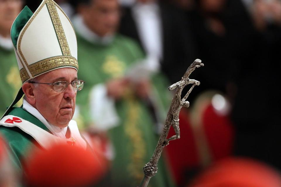 Pope Francis attended a Mass with newly appointed cardinals at St Peter's Basilica.