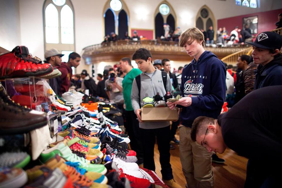 A sneaker resell event called Boston Got Sole 2, held in January at Boston's Villa Victoria, drew some thousand collectors.