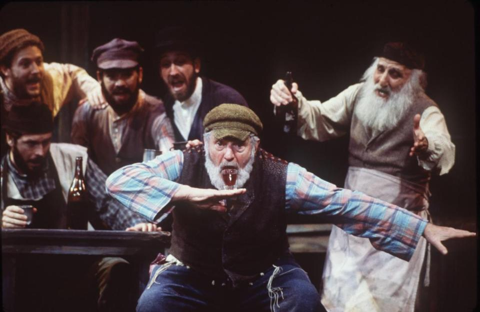 "Theodore Bikel (left, in 2013) starred as Tevye in ""Fiddler on the Roof."""