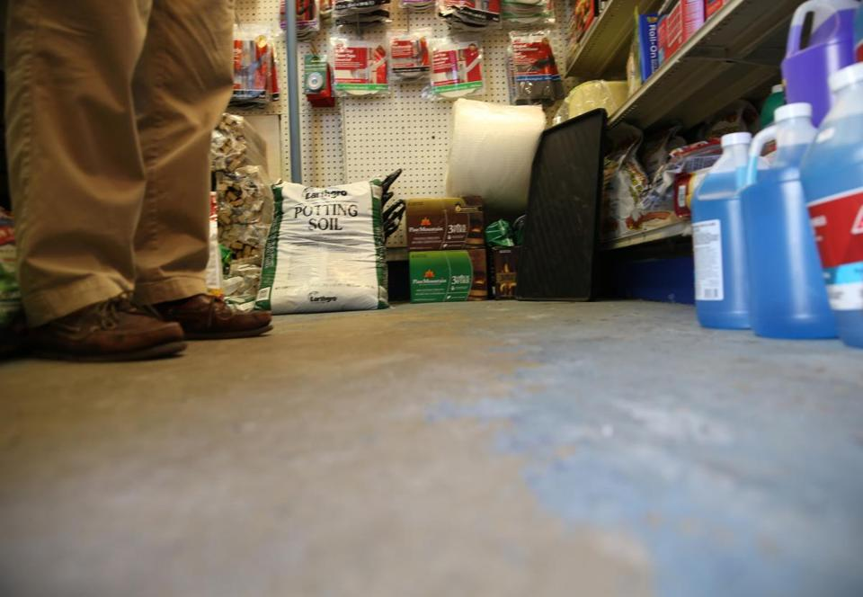 Charles Street Supply on Beacon Hill was completely out of snow-melt products on Friday.