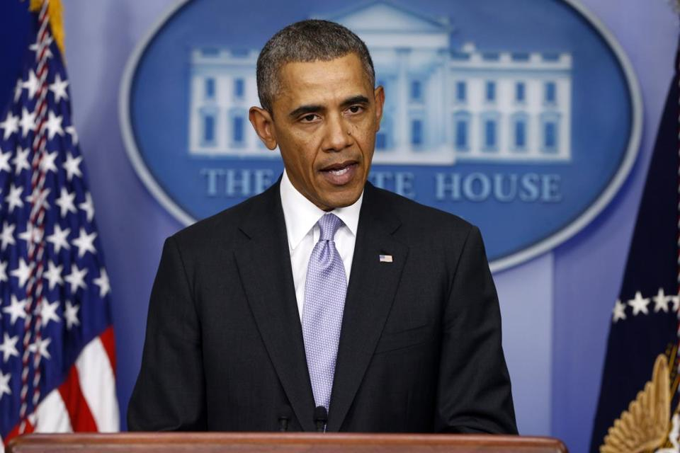 President Obama spoke about the crisis in Ukraine on Friday afternoon.
