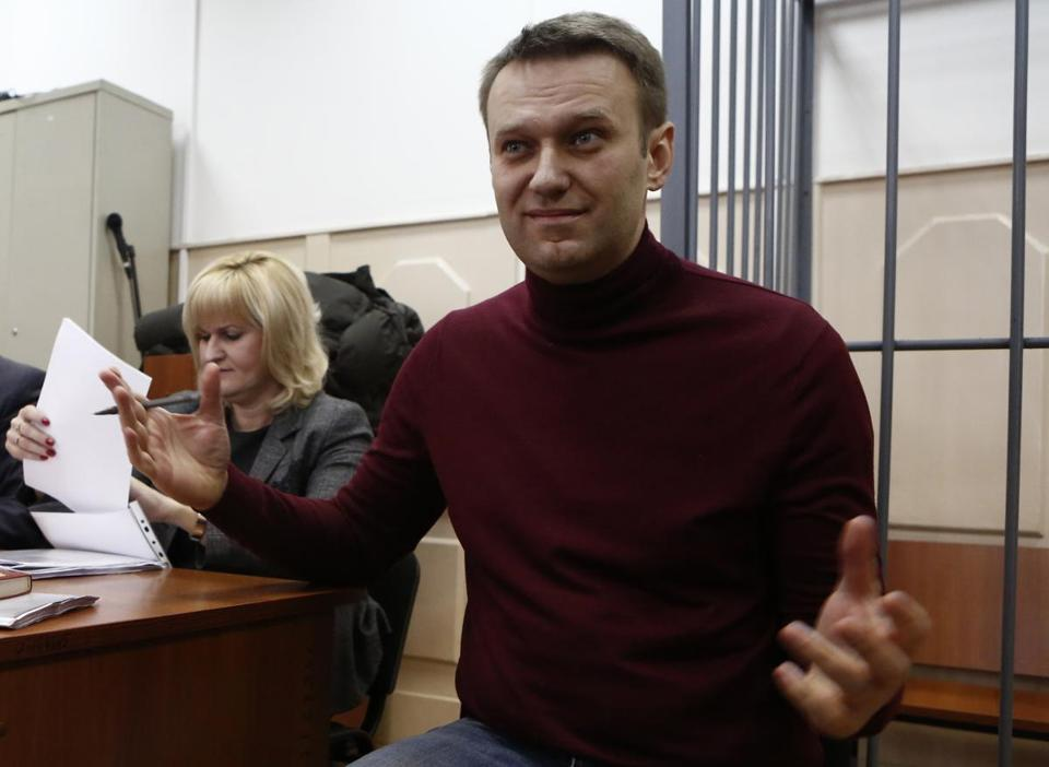 Russian opposition activist and anticorruption crusader Alexei A. Navalny spoke in court.