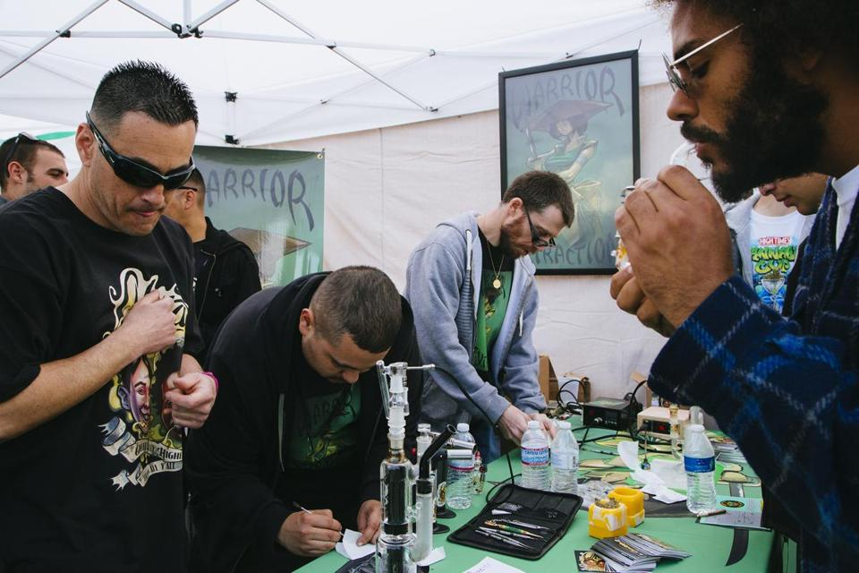 People sampled products at the Cannabis Cup last month in San Bernardino, Calif.