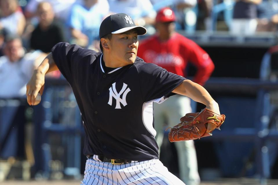 Masahiro Tanaka struck out three and gave up two hits to the Phillies.