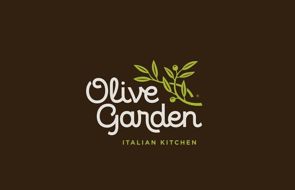 Darden unveiled a new logo for its Olive Garden. Officials aim to bring a ''brand renaissance'' to the chain.