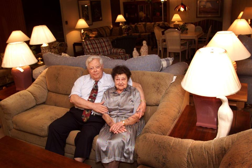 Mr. Barron And His Wife, Ruth, Posed In The Putnam Furniture Leasing Co