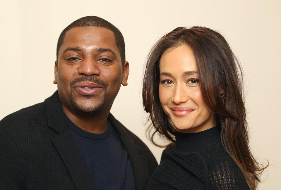 "Actors Mekhi Phifer and Maggie Q  promoted their movie ""Divergent,"" on Monday at the Ritz-Carlton."