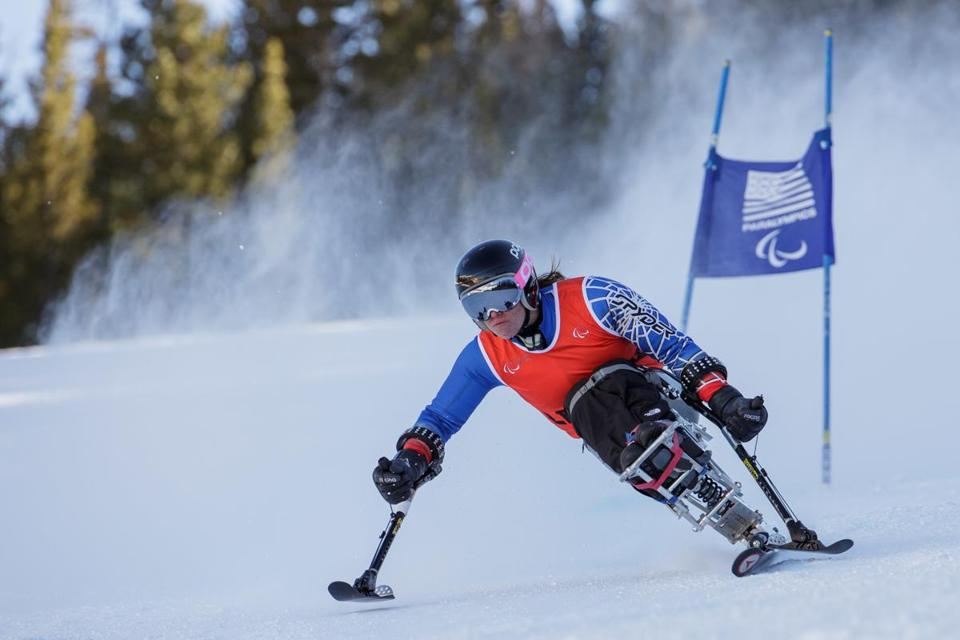 Laurie Stephens skied the giant slalom recently in the IPC World Cup in Colorado.