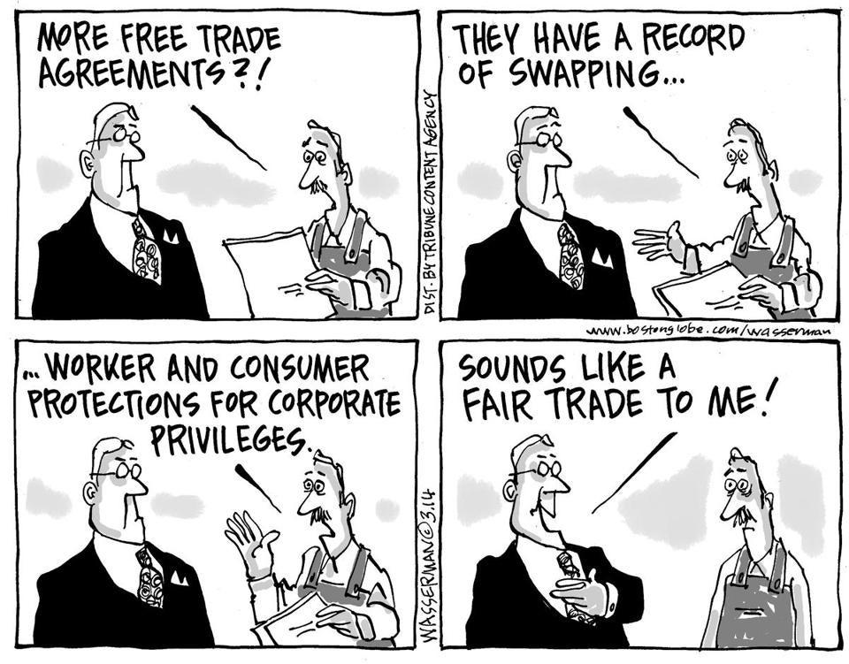 Editorial Cartoon More Free Trade Deals Editorial Cartoon More