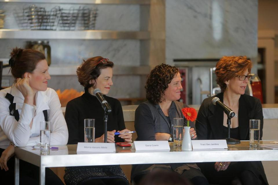 From left: Morra Aarons-Mele, Dana Cowin, Traci Des Jardins, and Jody Adams at Rialto.